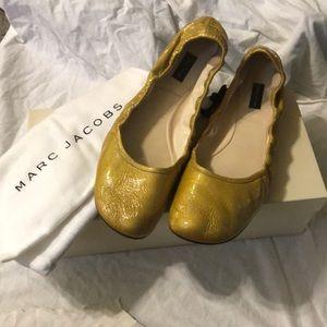 Marc Jacobs Glazed Patent Metallic Ballet Flats